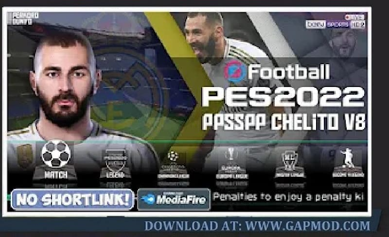 PES 2022 PPSSPP Chelito